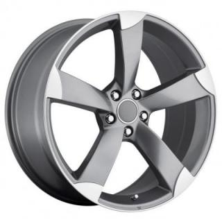 FACTORY REPRODUCTIONS WHEELS  AUDI A5 STYLE 85 GREY RIM with MACHINED ACCENTS