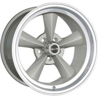 HRH CLASSIC ALLOY WHEELS STYLE 675 SILVER RIM with MACHINED LIP