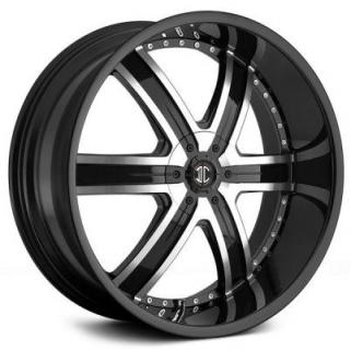 2 CRAVE WHEELS  2 CRAVE N04 BLACK/MACHINED RIM