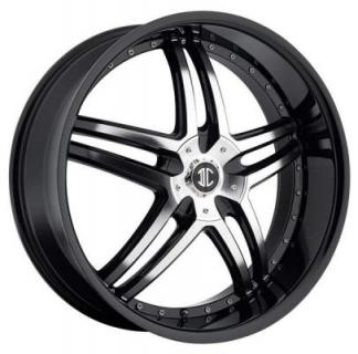 2 CRAVE WHEELS  2 CRAVE N17 BLACK/MACHINED RIM