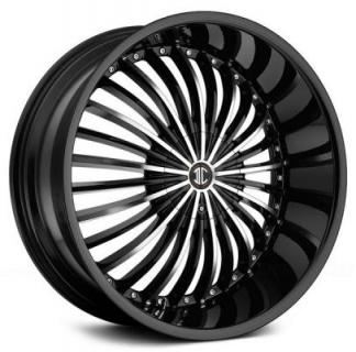 2 CRAVE WHEELS  2 CRAVE N19 BLACK/MACHINED RIM