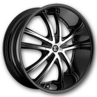 2 CRAVE WHEELS  2 CRAVE N21 BLACK/MACHINED RIM