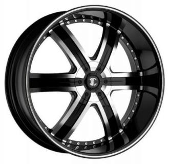 2 CRAVE WHEELS  BLACK DIAMOND N04 BLACK/MACHINED RIM