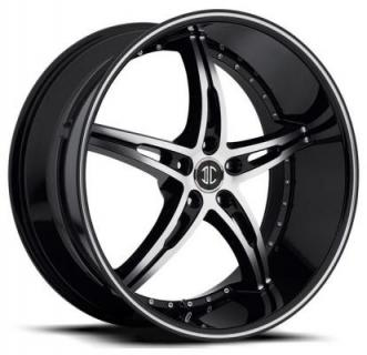 2 CRAVE WHEELS  BLACK DIAMOND N14 BLACK/MACHINED RIM