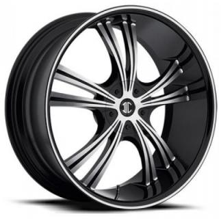 2 CRAVE WHEELS  BLACK DIAMOND N02 BLACK/MACHINED RIM