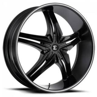 2 CRAVE WHEELS  BLACK DIAMOND N15 BLACK/MACHINED RIM