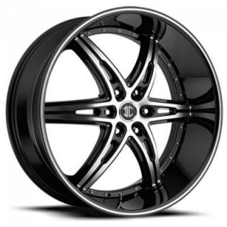 2 CRAVE WHEELS  BLACK DIAMOND N16 BLACK/MACHINED RIM