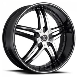 2 CRAVE WHEELS  BLACK DIAMOND N17 BLACK/MACHINED RIM