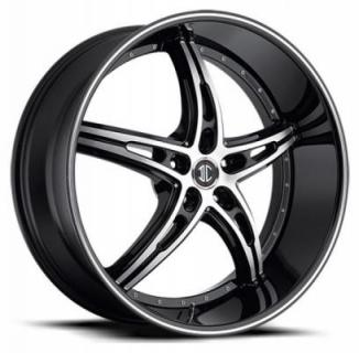 2 CRAVE WHEELS  BLACK DIAMOND N25 BLACK/MACHINED RIM