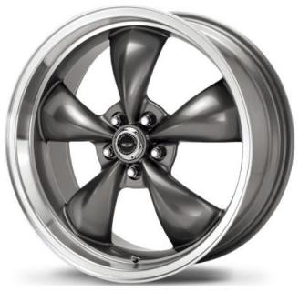 AMERICAN RACING WHEELS  AR105 TORQ THRUST M ANTHRACITE RIM with MACHINED LIP