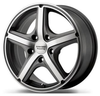 AR883 MAVERICK ANTHRACITE RIM with MACHINED FACE from AMERICAN RACING WHEELS