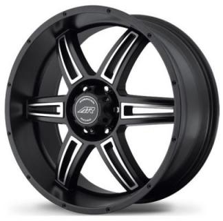 AR890 SATIN BLACK RIM with MACHINED FACE from AMERICAN RACING WHEELS