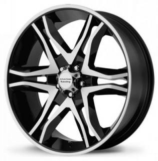 AMERICAN RACING WHEELS  AR893 MAINLINE GLOSS BLACK MACHINED RIM