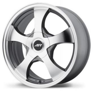 AR895 DARK SILVER RIM with MACHINED FACE from AMERICAN RACING WHEELS