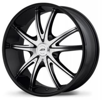 AR897 GLOSS BLACK RIM with MACHINED FACE from AMERICAN RACING WHEELS