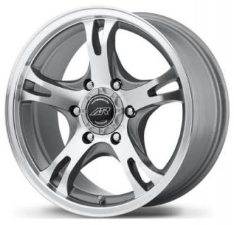 AMERICAN RACING WHEELS  AR898 DARK SILVER RIM with MACHINED FACE