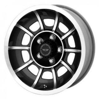 AMERICAN RACING WHEELS  VN47 VECTOR NATURAL BLACK MACHINED