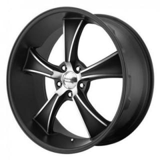 VN805 BLVD SATIN BLACK RIM with MACHINED ACCENTS from AMERICAN RACING WHEELS