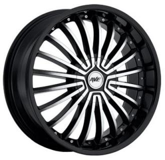 AVENUE WHEELS  A602 BLACK RIM with MACHINED FACE
