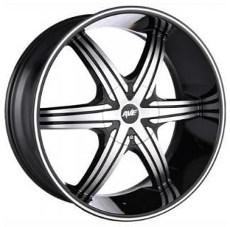 AVENUE WHEELS  A606 GLOSS BLACK MACHINED RIM