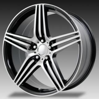 WHEEL REPLICAS WHEELS  V1175 SL63 GUNMETAL RIM with MACHINED FACE