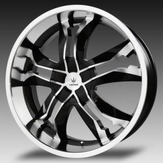 VERDE WHEELS - EARLY BLACK FRIDAY SPECIALS!   JAGGEDGE GLOSS BLACK RIM with MACHINED FACE and LIP