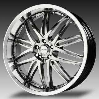 VERDE WHEELS  KAOS HYPER SILVER RIM with MACHINED LIP
