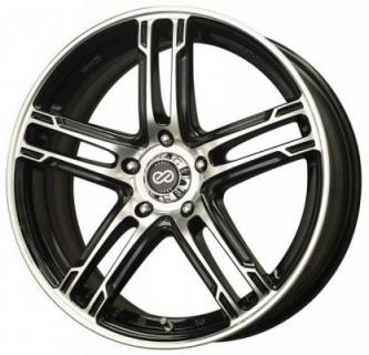 ENKEI WHEELS  FD-05 BLACK MACHINED WHEEL