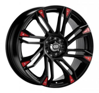 ENKEI WHEELS  GW8 MATTE BLACK WHEEL CHROME OR RED TRIM