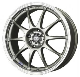 ENKEI WHEELS  J10 SILVER WHEEL WITH MACHINED LIP