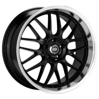 ENKEI WHEELS  LUSSO BLACK RIM with MACHINED LIP