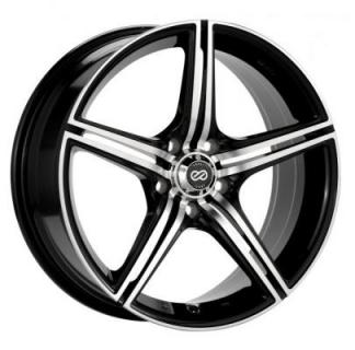 ENKEI WHEELS  STR5 BLACK MACHINE WHEEL