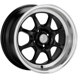 ENKEI WHEELS  J-SPEED BLACK RIM with MACHINED LIP