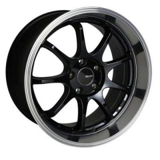 ENKEI WHEELS  TENJIN BLACK MACHINED
