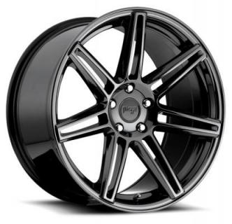 NICHE WHEELS  LUCERNE M141 PVD BLACK CHROME RIM