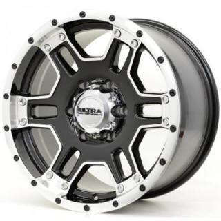 ULTRA WHEELS  MONGOOSE 178 GLOSS BLACK RIM with DIAMOND CUT LIP NON-LIFTED