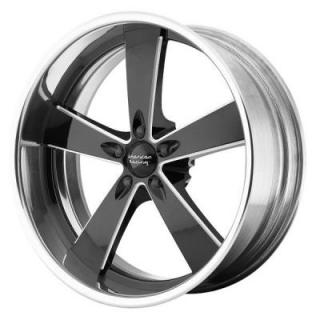 AMERICAN RACING WHEELS  VN472 BURNOUT BLACK MILLED CENTER with POLISHED RIM
