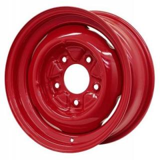 GENNIE BARON RED RIM with CAP and TRIM RING by HRH STEEL WHEELS