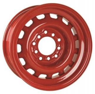 HRH STEEL WHEELS  ARTILLERY BARON RED RIM with CAP and TRIM RING