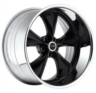 NITROUS SE F301 BLACK CENTER RIM with CHROME BARREL by FOOSE CUSTOM SHOP