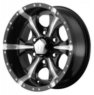 HELO WHEELS  HE791 BLACK RIM with MILLED ACCENTS