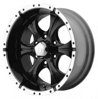HELO WHEELS  HE791 BLACK MACHINED RIM