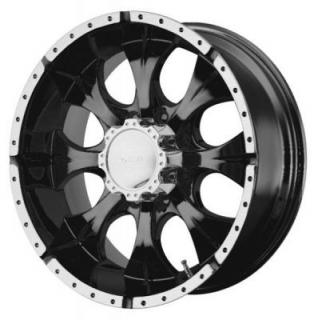 HELO WHEELS  HE791 BLACK MACHINED 8 LUG RIM
