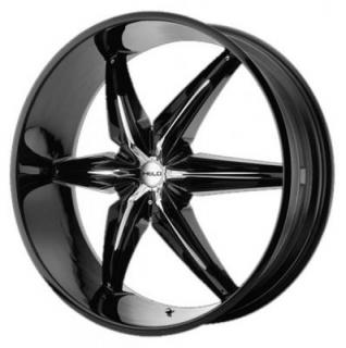 HE866 GLOSS BLACK RIM from HELO WHEELS