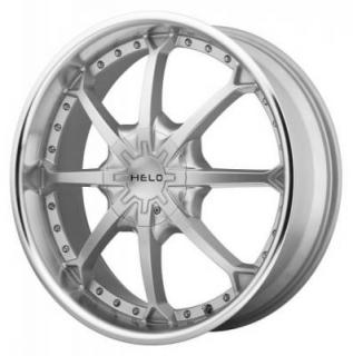 HELO WHEELS  HE871 SILVER RIM with MACHINED LIP