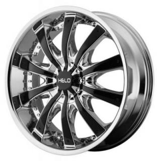 HELO WHEELS  HE875 CHROME RIM with GLOSS BLACK ACCENTS