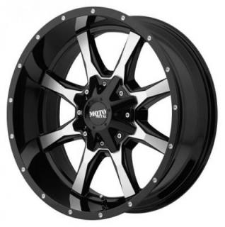 MOTO METAL WHEELS  MO970 GLOSS BLACK RIM with MACHINED FACE