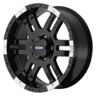MOTO METAL WHEELS  MO951 GLOSS BLACK RIM with MACHINED FACE