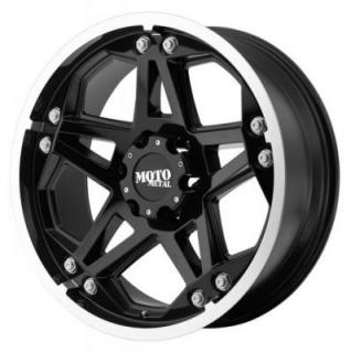 MOTO METAL WHEELS  MO960 GLOSS BLACK RIM with MACHINED LIP