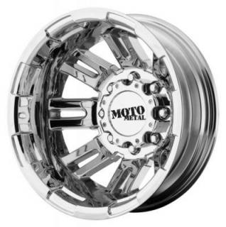 MOTO METAL WHEELS  MO963 DUALLY BRIGHT PVD REAR RIM